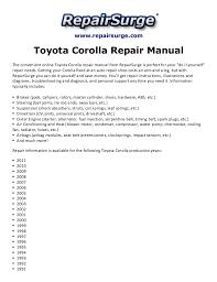 1998 toyota corolla engine diagram toyota corolla repair manual 1990 2011