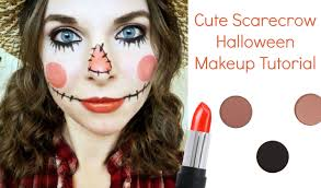cute scarecrow halloween makeup tutorial youtube