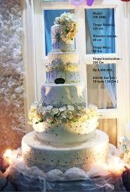 wedding cake tangerang wedding cake 5 tiers by pelangi cake bridestory