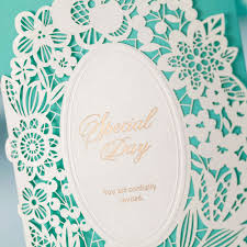 Make Your Own Invitation Cards Free Aliexpress Com Buy Tiffany Laser Cut Wedding Invitation Cards