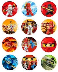 ninjago cake topper lego ninjago set of 12 personalized stickers or cupcake