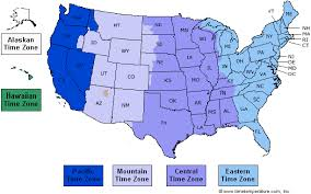 time zone map united states time zone map