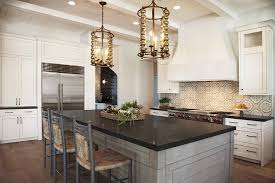 Kitchen Island Granite Countertop Gray Wash Kitchen Island With Black Granite Countertops