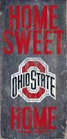 Ohio State House Flag Amazon Com Ohio State Buckeyes Wood Sign Home Sweet Home 6x12
