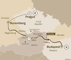 Passau Germany Map by Gems Of The Danube With Prague River Cruises Europe