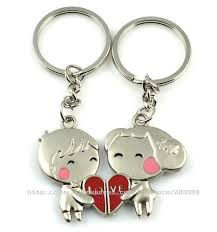 cute key rings images Key chain key ring cute alloy pair chain best gift for lover best jpg