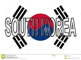 South Korea Flag Flag Of South Korea Word Stock Illustration Image Of Traditional
