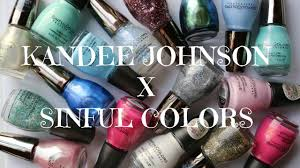 kandee johnson x sinful colors swatches u0026 review banicured youtube