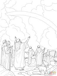 god u0027s rainbow covenant with noah coloring page free printable