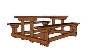8 Ft Picnic Table Plans Free by Long Picnic Table Plans Howtospecialist How To Build Step By
