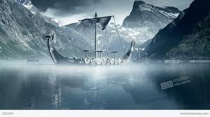 viking ships on nordic sea epic fullhd visualfx stock video