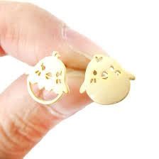 baby girl earrings mix and match baby bird shaped animal stud earrings in gold