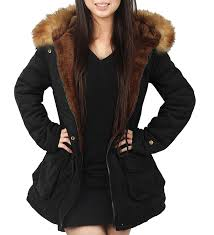 ilovesia womens hooded warm coats parkas with faux fur