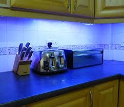 BLUE LED KITCHEN  UNDER CABINET LIGHTING SET  X CM LED STRIPS - Kitchen cabinet under lighting