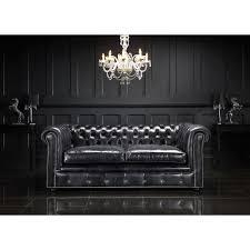 Chesterfield Black Sofa Boudoir Samadhi Exkluzivní Home Decor A Chesterfield Styl