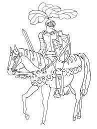 coloriages de chevalier les personnages page 2