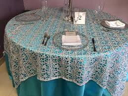 silver lace table overlay sequin overlays for tables premier table linens