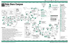 palo duro state park map where the trails are