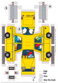 papercraft direct link to the model the smurfs cab papercraft