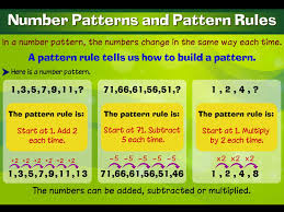 pattern and numbers numbers pattern for class 4 number patterns worksheets