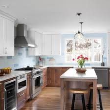 houzz blue kitchen cabinets 75 beautiful gray kitchen pictures ideas april 2021 houzz