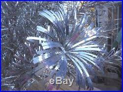 silver forest 6 u0027 pom pom style aluminum christmas tree w color wheel