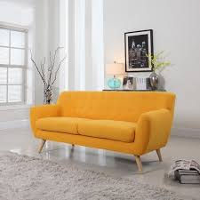 Modern Yellow Sofa Mid Century Modern Sofa Living Room Furniture Assorted Colors
