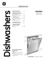 General Electric Dishwasher Ge Pdwt480rss Profile 24 In Dishwasher Manuals