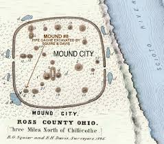 Davis Map Map Of The Mound City Hopewell Site Ross Co Ohio