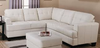 Tufted Sectional Sofa by Cream Bonded Leather Modern Sectional Sofa W Button Tufted Seats