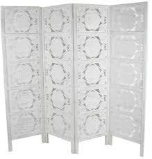 hand carved indian swirl design room divider screen white u2013 room