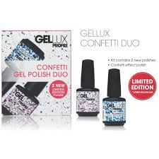salon system gellux confetti duo gel nail polish nails from just