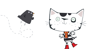 wussywat clumsy cat cbeebies bbc