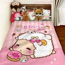 Duvet Donuts Kawaii Sheep And Cute Donut Fleece Blanket Fb8 Chibi Bunny