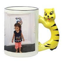 animal mug animal handle mug with photo print hichi graphics