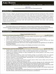 Social Media Resume Template Media Resume Examples Resume Professional Writers