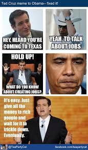 Cruz Meme - ed harris on twitter teapartycat ted cruz made a meme for obama