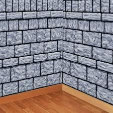 halloween scene setters stone wall scene setter
