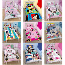Minnie Mouse Bed Room disney mickey or minnie mouse single junior duvet cover sets kids