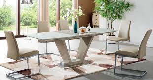 large round glass dining room table dining room tables rovigo