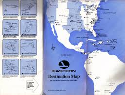 Flight Routes Map by Virtual Eastern Airlines