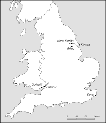 Map Of England And Wales Map Of England And Wales With The Locations Of The Bronze Age