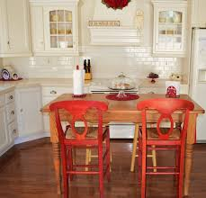 rustic kitchen table with red chairs effie dining room set w red