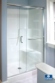 frameless by pass sliding shower doors oasis shower doors frameless sliders bypass doors