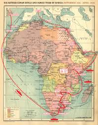 map 4 africa file map sacd tour of africa 1928 1929 jpg the arthur conan