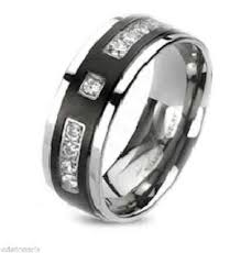 wedding ban his hers 4 black stainless steel titanium matching wedding