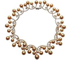anime pearl necklace images Bead snob rare south sea pearls a look at jewelmer 39 s golden pearls jpg