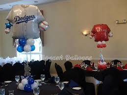 Elegant Balloon Centerpieces by Baseball Jersey Balloons By Elegant Balloons Mazelmoments Com