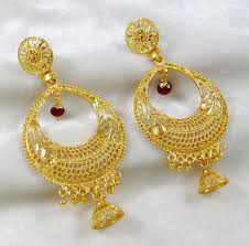 jhumka earring traditional goldplated chand bali jhumka earring indian women