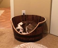 Cats In Dog Beds How To Make A Wine Barrel Dog Bed Lola The Pitty